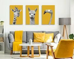 white yellow mustard canvas wall art