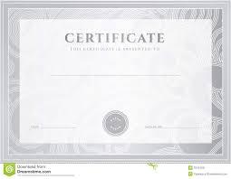 Silver Certificate, Diploma Template. Award Patter Stock Vector ...