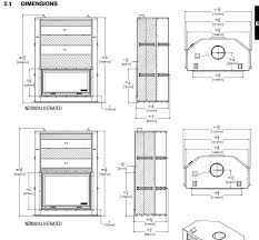 napoleon nz7000 nz8000 wood burning fireplace dimensions