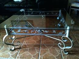 wrought iron and glass coffee table iron and glass coffee table awesome wrought iron coffee tables