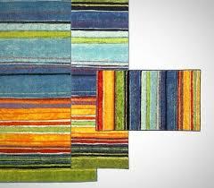mohawk home rainbow multi colored 3 piece rug set carpet colorful southwest