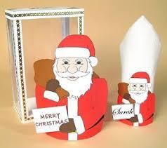 Details About A4 Card Template Santa Bag Serviette Holder