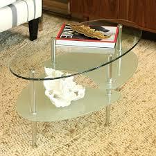 cream colored coffee table inch round glass two tier small black color square