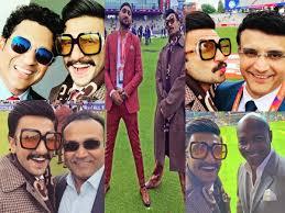 Ranveer Singh Poses With Cricket Legends Sachin Tendulkar Virender