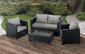 antonio 4 piece patio lounge set black patio lounge sets50