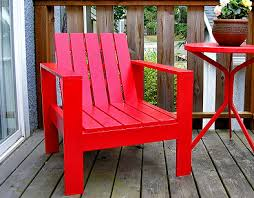 red outdoor lounge chair