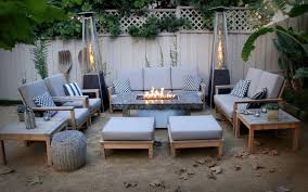 marble dining table with fire pit