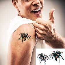 Vodotěsný Dočasné Tetování Nálepka 3d Děsivé Hrozné Pavouk Falešné