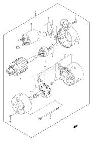 Starting motor petrol