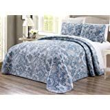 blue and white bedspread. Simple White 3Piece Oversize 100 And Blue White Bedspread I
