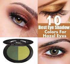 shadow colors for hazel eyes