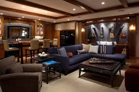 dark media room. Man Cave Living Room Design Newhairstylesformen2014com Dark Media