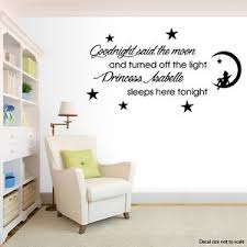image is loading goodnight said the moon personalised wall art quote  on personalised wall art stickers quotes with goodnight said the moon personalised wall art quote nursery sticker