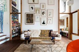 decorating idea for living rooms with high ceilings. Modren Decorating View In Gallery Create The Perfect Accent Wall With Curated Artwork  Design David Boyle Architect Inside Decorating Idea For Living Rooms With High Ceilings V