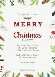 Christmas Dinner Invitation Templates Design Your Own Christmas Party Invitations Online Fotojet