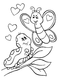 Monkey Coloring Pages Free Printable Valentines Coloring Pages