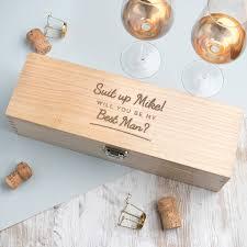 personalised groomsmen wooden whiskey box