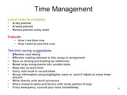 time management value map student learning advisory service unit  4 4 time management
