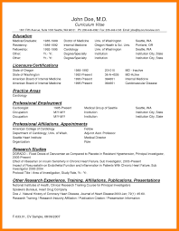 8 Physician Cv Templates Mla Cover Page