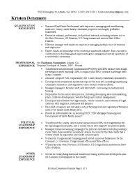 real estate developer resume sample united states government