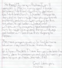 Letter Andrea NY