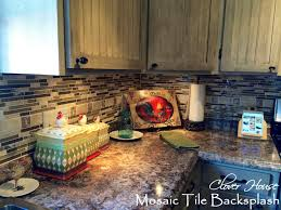 Diy Tile Backsplash Kitchen Clover House Diy Mosaic Tile Backsplash