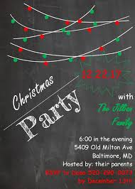 christmas dinner party invitations new designs for 2017 chalk board christmas dinner party invitations