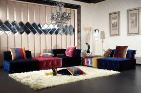 rooms with mirrored furniture. Furniture:Fascinating Living Room Design With Colorful Bed Sofa And Unique Wall Mirror Decor Ideas Rooms Mirrored Furniture S