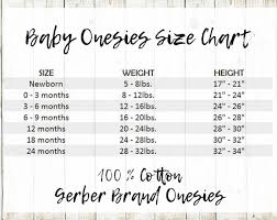 Gerber 0 3 Month Onesies Size Chart Gerber Onesie Size Chart Sada Margarethaydon Com