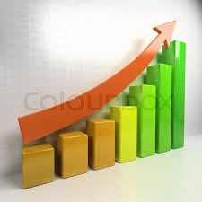 Chart Showing Increase Business Chart Showing Increase In Stock Image Colourbox