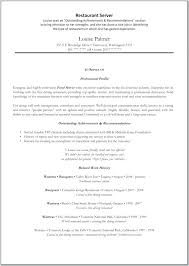resume for restaurants resume restaurant server foodcity me