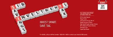 Tax Savings Schemes Best Tax Saving Investments Schemes Sib