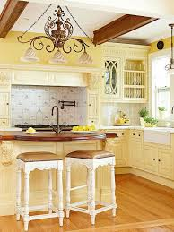 photo yellow kitchen wood