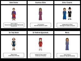 Character Chart Twelfth Night Storyboard By 6da521f6