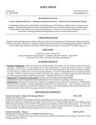 Business Analyst Resume Examples Resume Template Easy Http Www