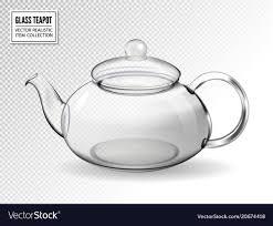 Designer Glass Teapot Empty Glass Teapot On Transparent Background