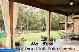 outdoor porch curtains. No Sew Curtains From Drop Cloths Outdoor Porch