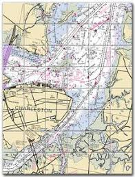 Charleston Nautical Chart Charleston South Carolina Nautical Chart Tile Mural