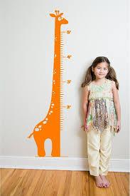 6 Giraffe Growth Chart Vinyl Decal By Bubbaanddoodle On