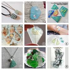 wire wrapped recycled glass pendant. Image Wire Wrapped Recycled Glass Pendant E