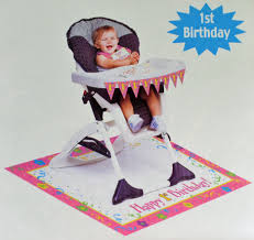 girl st birthday high chair kit edited