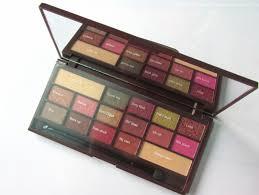 makeup revolution i heart makeup i heart chocolate palette rose gold shades