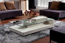the living room center luxury sofa center table glass top