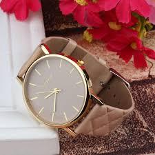 new watch women checkers faux lady dress watch women s casual leather quartz watch og wrisch gifts relogios feminino
