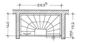 Berechnung einer 1/2 rechts gewendelten treppe mit rechteckiger deckenöffnung. Grundrisse Treppen Im Trend