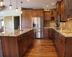 Rustic Beech Cabinets Rustic Beech Kitchen And Cabinets In Bettendorf Ia By Village