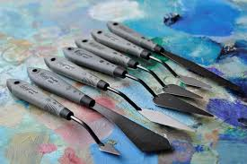 rgm pro grip palette knife painting knives 20 shapes and sizes 5 50 pegasus art