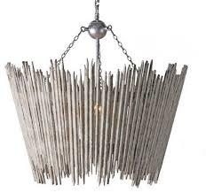 mireia distressed white 4 light wood drum pendant