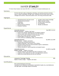 Automotive Resume Objective Best Mechanic Resume Example Livecareer Resume Examples