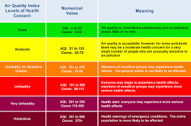 Air Index Chart Maqs Licensed For Non Commercial Use Only Interpreting